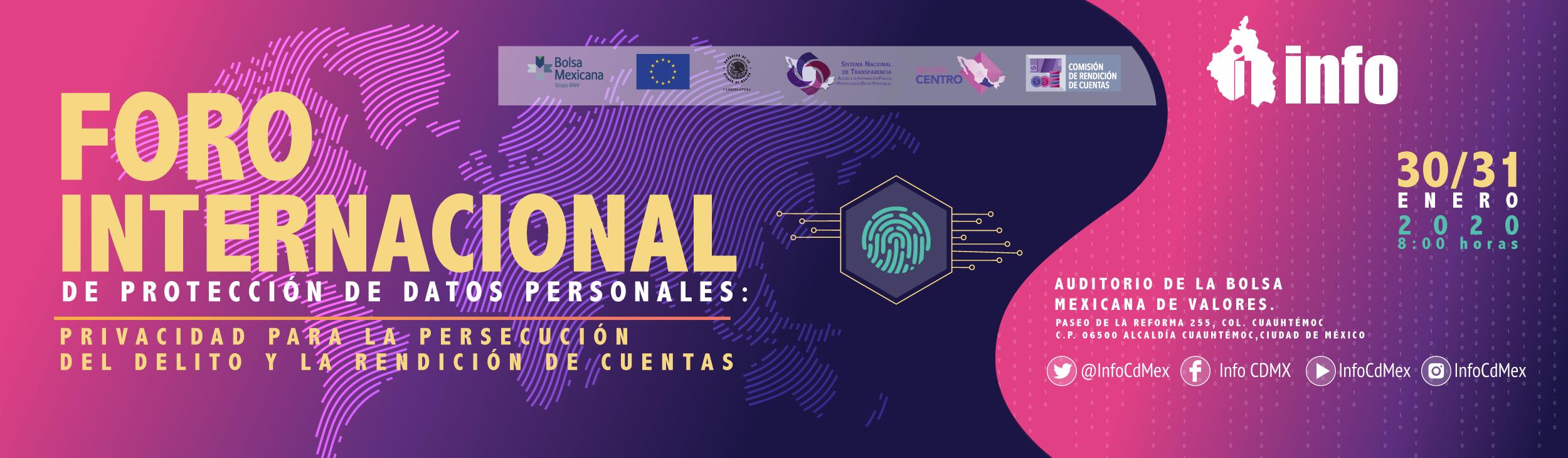 Banner Micrositio - Foro Internacional de Protección de Datos Personales