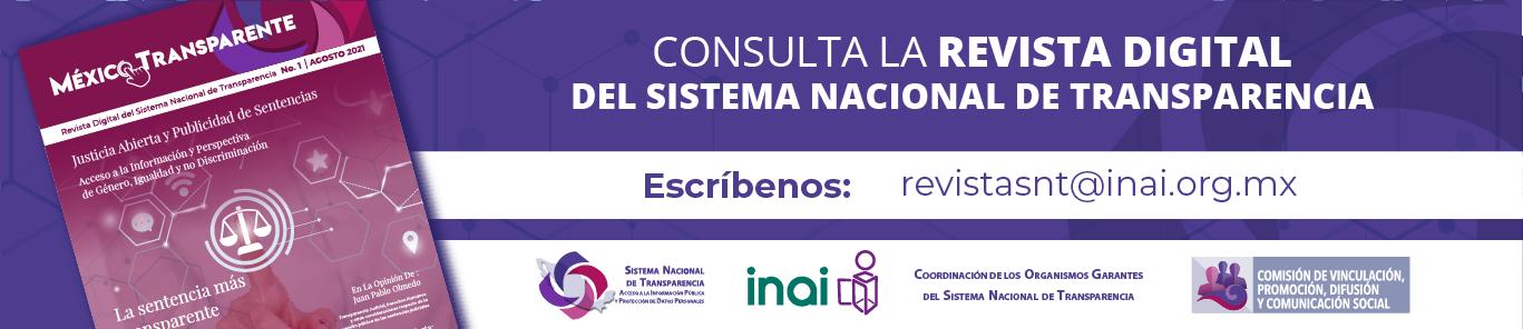 "Revista Digital del Sistema Nacional de Transparencia ""México Transparente"" ."