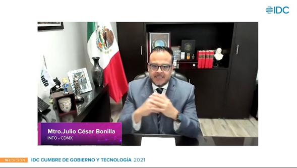 """El Presidente del INFO CDMX participó en La 16 edición de la Cumbre de Gobierno y Tecnología: resiliencia digital"""" organizada por IDC Latinoamérica."""
