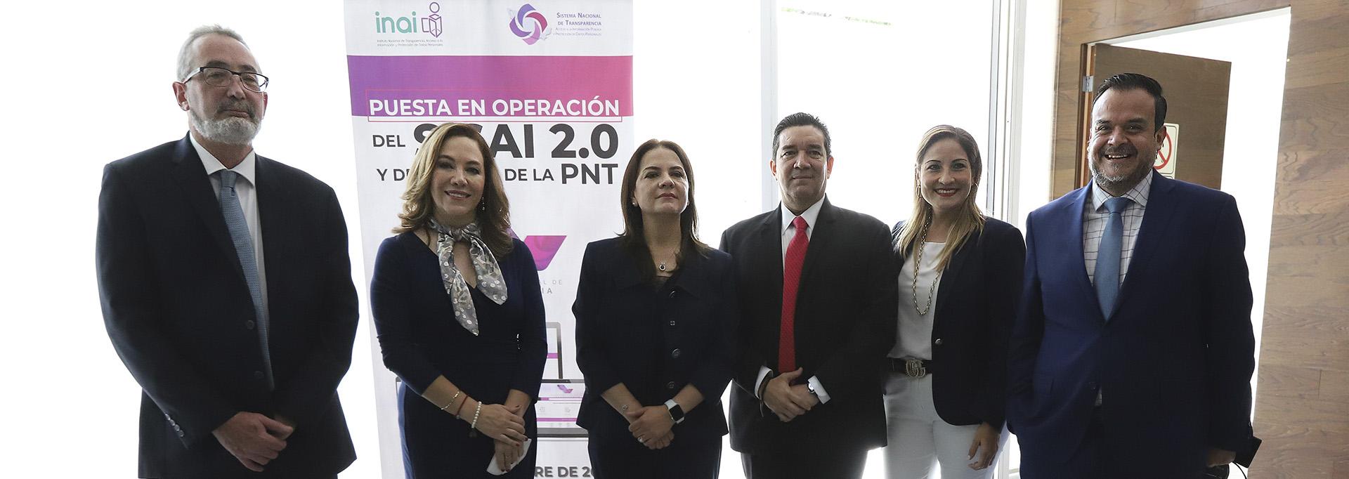 El Comisionado Presidente del INFO CDMX participó en la puesta en operación del SISAI 2.0 y de la App de la Plataforma Nacional de Transparencia.