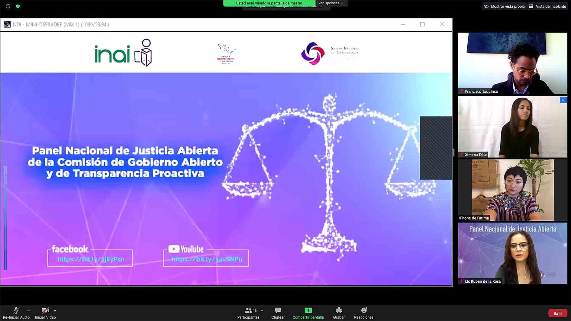 PANEL JUSTICIA ABIERTA 161020