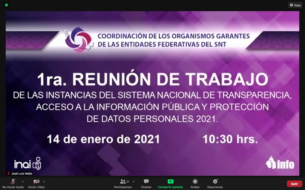 REUNIÓN DE TRABAJO SNT 140121