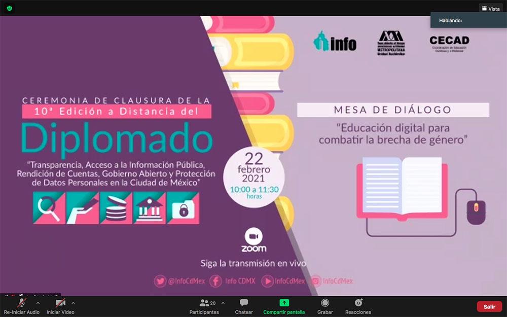 CLAUSURA 10ª EDICIÓN A DISTANCIA DIPLOMADO 220221