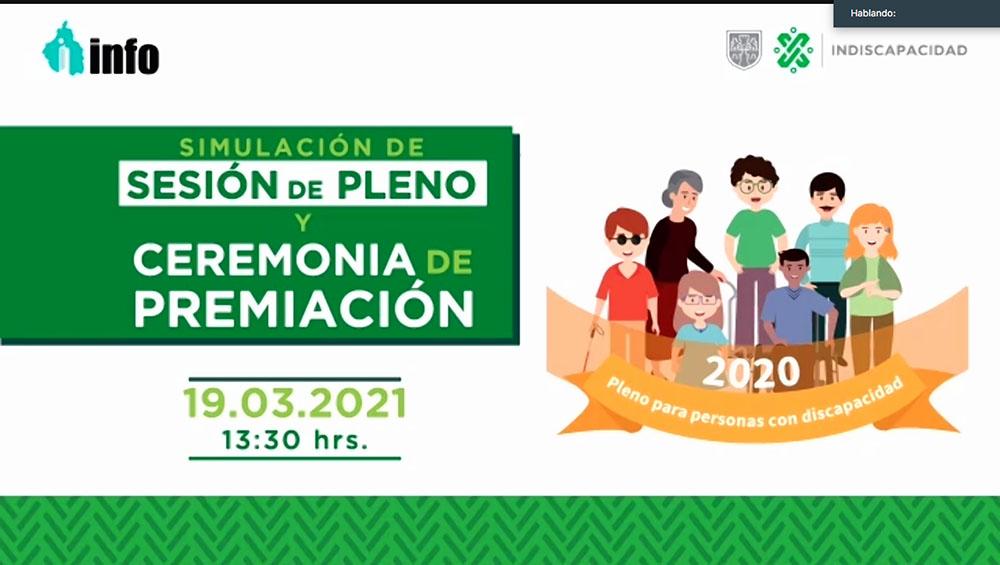 SIMULACIÓN DEL PLENO INFO DE PERSONAS CON DISCAPACIDAD 190321