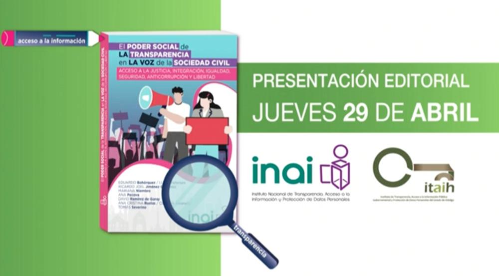 PRESENTACIÓN EDITORIAL EL PODER DE LA TRANSPARENCIA 290421