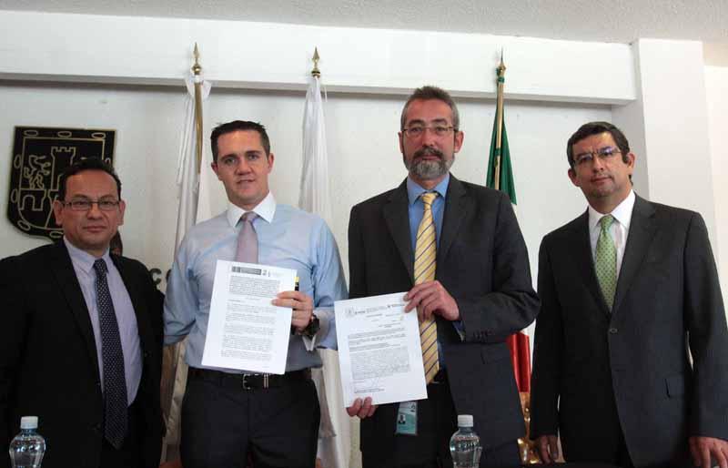 Firma Convenio Delegación Cuajimalpa de Morelos