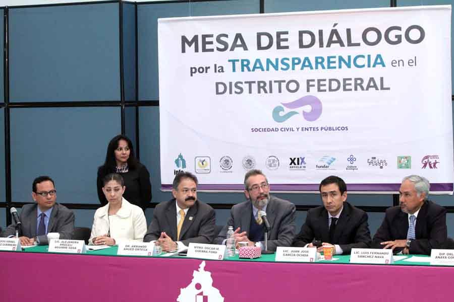 Mesa de diálogo por la transparencia