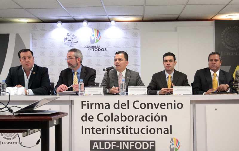 Convenio interinstitucional  InfoDF - ALDF