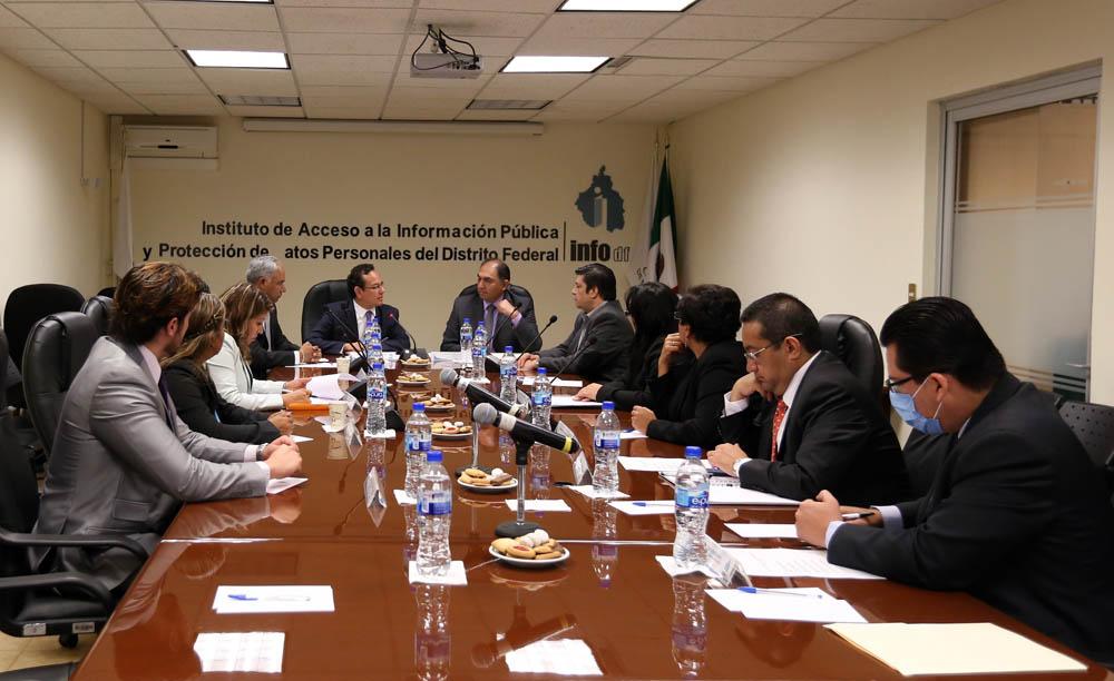Reunión de trabajo entre el InfoDF y la Contraloría Gneneral del D.F.
