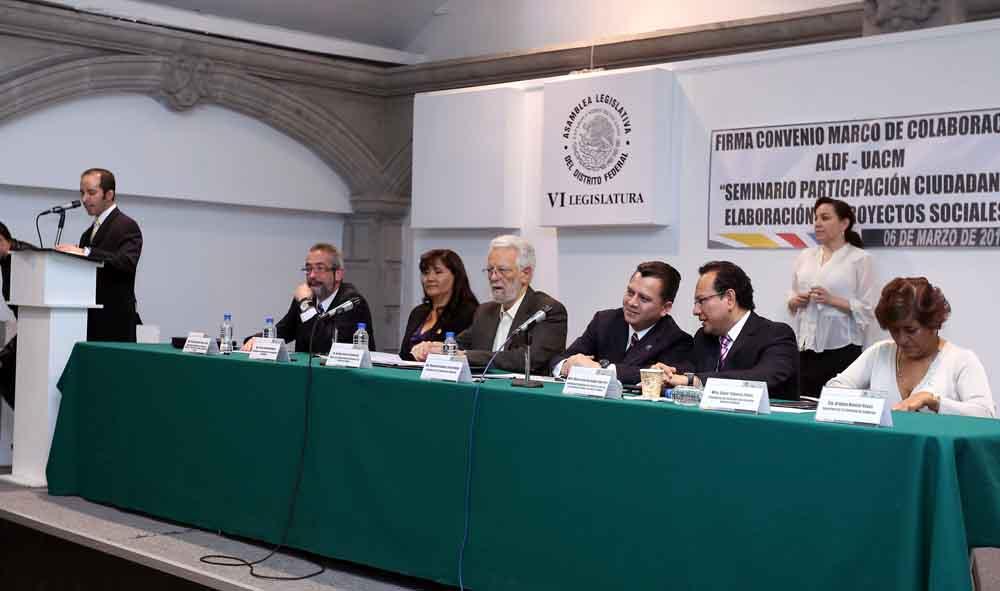 Convenio ALDF y la UACM