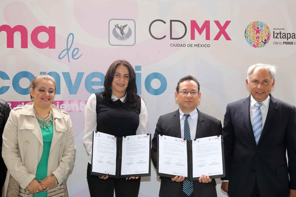FIRMA DE CONVENIO DE COLABORACIÓN ENTRE LA DELEGACIÓN IZTAPALAPA Y EL INFODF