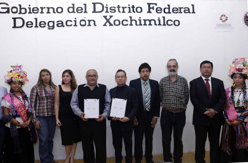 FIRMA DE CONVENIO DE COLABORACIÓN ENTRE LA DELEGACIÓN XOCHIMILCO Y EL INFODF