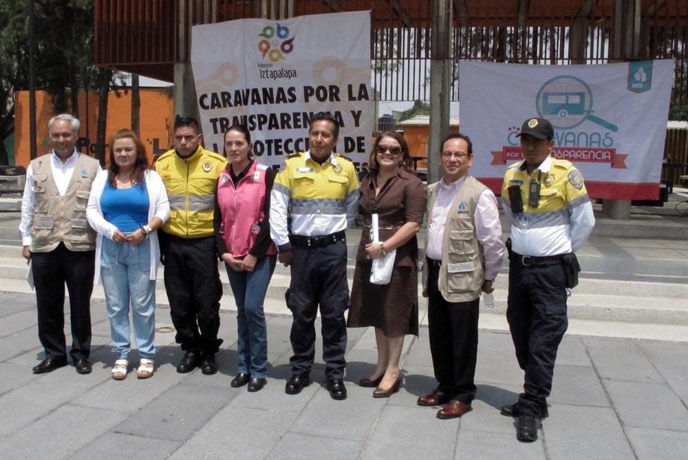 ACTIVIDADES DE LAS CARAVANAS POR LA TRANSPARENCIA EN LA DELEGACION IZTAPALAPA