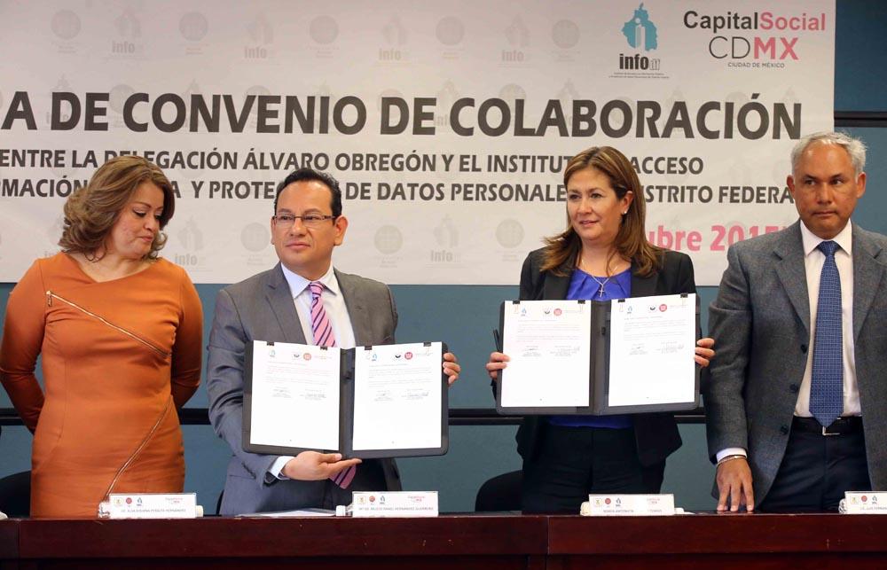 Firma de Convenio Álvaro Obregón