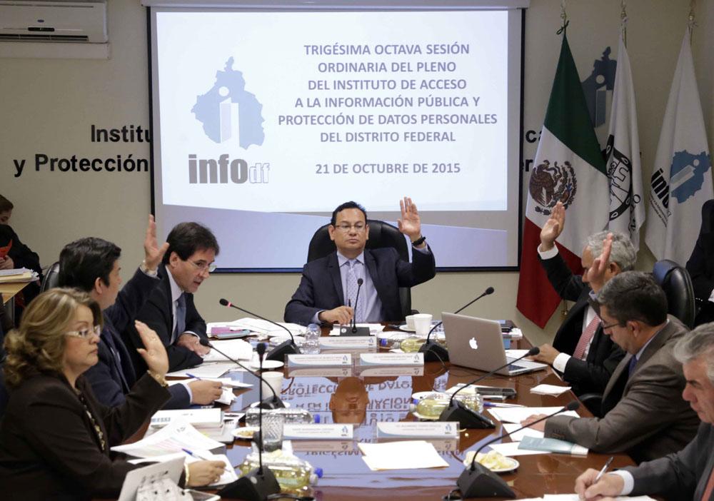 SESIÓN ORDINARIA DEL PLENO DEL INFODF 23 Octubre 2015