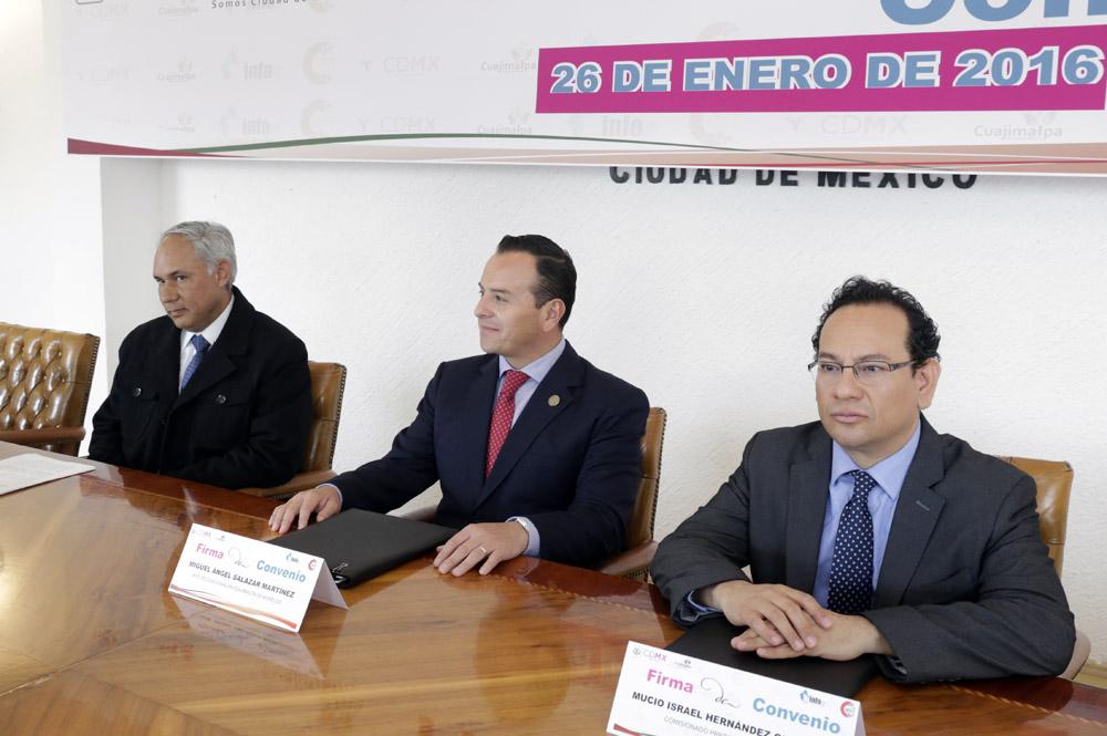 FIRMA DE CONVENIO INFODF-CUAJIMALPA